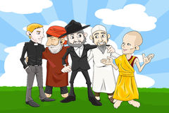 Olikt religionfolk Arkivbild