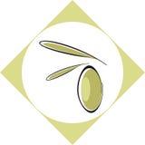 Olil verde oliva/contrassegno Immagini Stock
