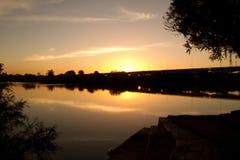 Olimar河的公园 免版税库存照片