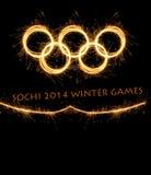 A olimpíada Sochi Rússia de 2014 invernos Imagens de Stock