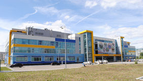 Olimp swimming pool in Kazan. Built for the Universiade 2013 royalty free stock image