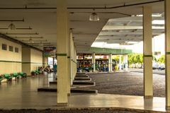 Bus Terminal of the city of Olimpia, in Sao Paulo Stock Photography