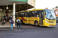 Bus Terminal of the city of Olimpia, in Sao Paulo Stock Photo