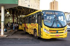 Bus Terminal of the city of Olimpia, in Sao Paulo Stock Image