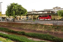 Bus Terminal of the city of Olimpia, in Sao Paulo Royalty Free Stock Photo