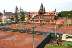 Olimpia tennis court in Brasov (Kronstadt), in Transilvania. Stock Photo