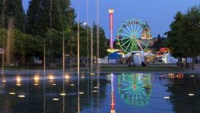 Olimpia, WA usa - Lipiec, 16 2015 Główny wydarzenie w olimpia, WA jest Capitol Lkae jarmarkiem który trzyma każdego roku w Lipu Zdjęcia Royalty Free