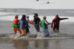 Olimpiad Specjalnych Nebraska Biegunowy skok do wody Zdjęcia Stock