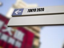 2020 olimpiad, Tokyo, Japan Zdjęcie Royalty Free