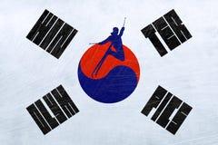 Olimpiadas de invierno de la Corea del Sur - esquí del estilo libre ilustración del vector