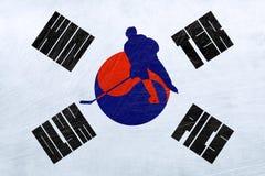 Olimpiadas de invierno de la Corea del Sur - hockey sobre hielo ilustración del vector
