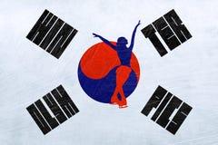 Olimpiadas de invierno de la Corea del Sur - patinaje artístico ilustración del vector