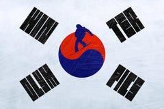 Olimpiadas de invierno de la Corea del Sur - snowboard stock de ilustración