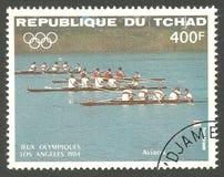 Olimpiadas de verano de Los Ángeles, competencia del equipo Fotografía de archivo libre de regalías