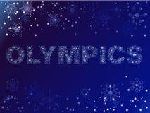 Olimpiadas hechas de nieve Imagenes de archivo