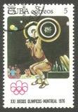 Olimpiadas Montreal, levantamiento de pesas fotografía de archivo libre de regalías