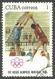 Olimpiadas Montreal, voleibol foto de archivo libre de regalías