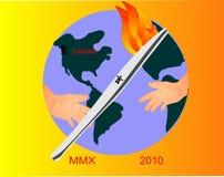 Olimpiadas que comparten por todo el mundo en 2010 Imagenes de archivo