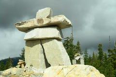 Olimpiadi 2010 del Canada Inukshuk di Whistler Fotografia Stock Libera da Diritti