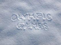 Olimpiady - śnieg Pisze zdjęcia stock