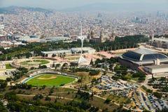 Olimpic area of Montjuic. Barcelona Stock Photos