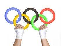 Olimpic begreppslogo royaltyfri fotografi