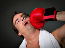 Olimpic boxing knock out Stock Images