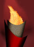 Olimpic fire. Beijing Olimpic torch fire flame Royalty Free Stock Photography