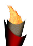 Olimpic fire. Beijing Olimpic torch fire flame Stock Photography