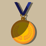 Olimpic medal design Stock Photography