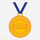 Olimpic medal design Royalty Free Stock Images