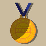 Olimpic medal design Royalty Free Stock Photography