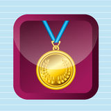 Olimpic medal design Royalty Free Stock Photos