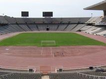 Olimpic stadionLluÃs företag av Barcelona Arkivfoto