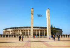 Olimpic stadium exterior in Berlin, Germany Royalty Free Stock Images