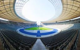 Olimpic stadium interior in Berlin, Germany. BERLIN - OCTOBER 5, 2014: Olimpic stadium interior on October 5, 2014 in Berlin, Germany. It's the second biggest Royalty Free Stock Photo