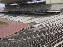 Olimpic Stadium stands of Barcelona Royalty Free Stock Photo