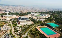Olimpicgebied van Montjuic Barcelona, Spanje Stock Afbeelding