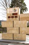 Olimpicklok in Lausanne Stock Afbeelding
