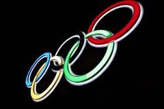 olimpijscy pierścionki Fotografia Royalty Free
