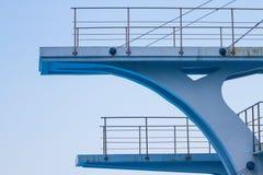 Olimpijska nurkowa platforma Zdjęcia Stock