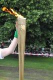 olimpijska pochodnia Fotografia Royalty Free