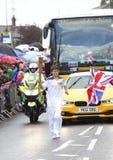 olimpijska sztafetowa pochodnia Zdjęcia Royalty Free