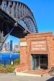 Olimpijski basenu i schronienia most, Północny Sydney, Australia obrazy royalty free