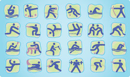 olimpijski ikony lato Obrazy Royalty Free