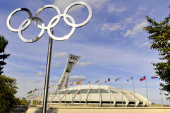 Olimpijski Montreal Stadium Obraz Royalty Free