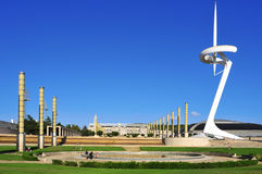 Olimpijski park w Barcelona, Hiszpania Fotografia Royalty Free
