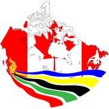 olimpijski pochodni Vancouver wektor Zdjęcie Stock