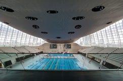 Olimpijski pływacki basen Zdjęcie Stock