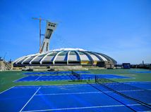 Olimpijski stadium Montreal Kanada kampus Fotografia Stock